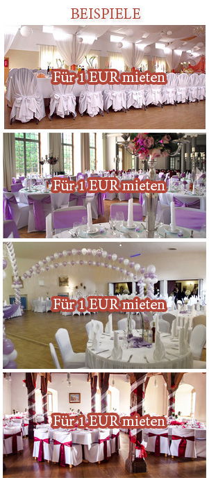 Dekoration für Hochzeit in Hamburg, Stuttgart und Frankfurt am Main ausleihen